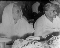 author with Mrs.Indira Gandhi